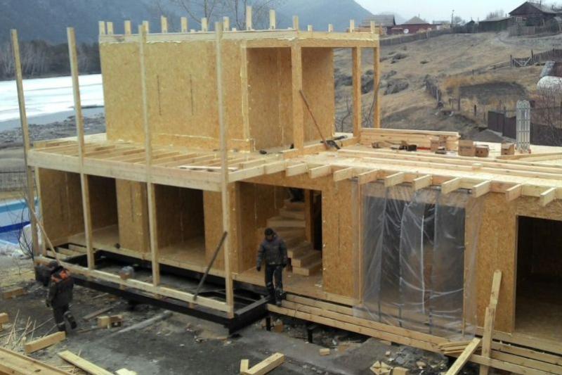 Гостевой дом из SIP панелей OSB. Год постройки: 2014. СОЧИ