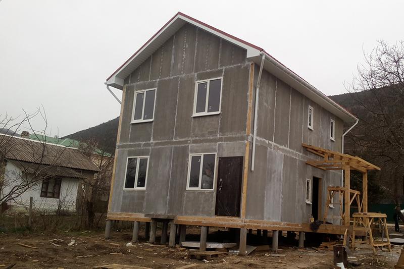 Дом из СИП панелей ЦСП в Севастополе