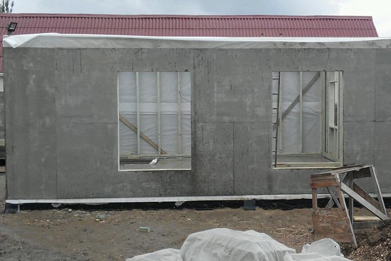 """Каркасный дом общит листами ЦСП """"ТАМАК"""". р-н Севастополя."""