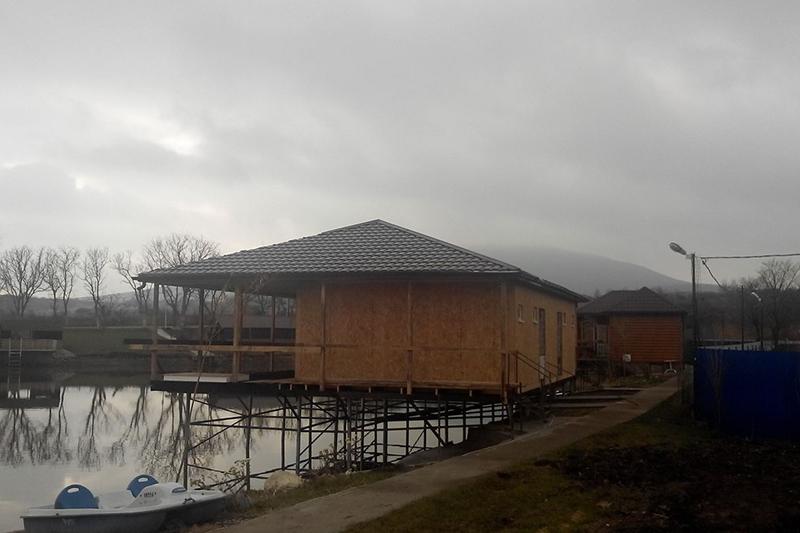 Дом на воде из СИП панелей OSB. Иноземцево. Год постройки: 2017