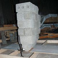 ЦСП панель 12мм выдерживает более 400 кг веса на двух точках подвеса